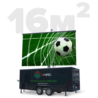Mobile LED Screen 16 m2